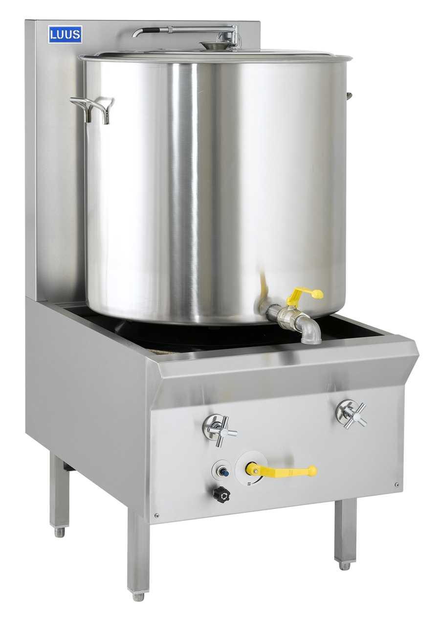 Luus Asian  WF-1SP 1 Duckbill Burner 14″ Traditional Stockpot Boiler with water cooling & trivet
