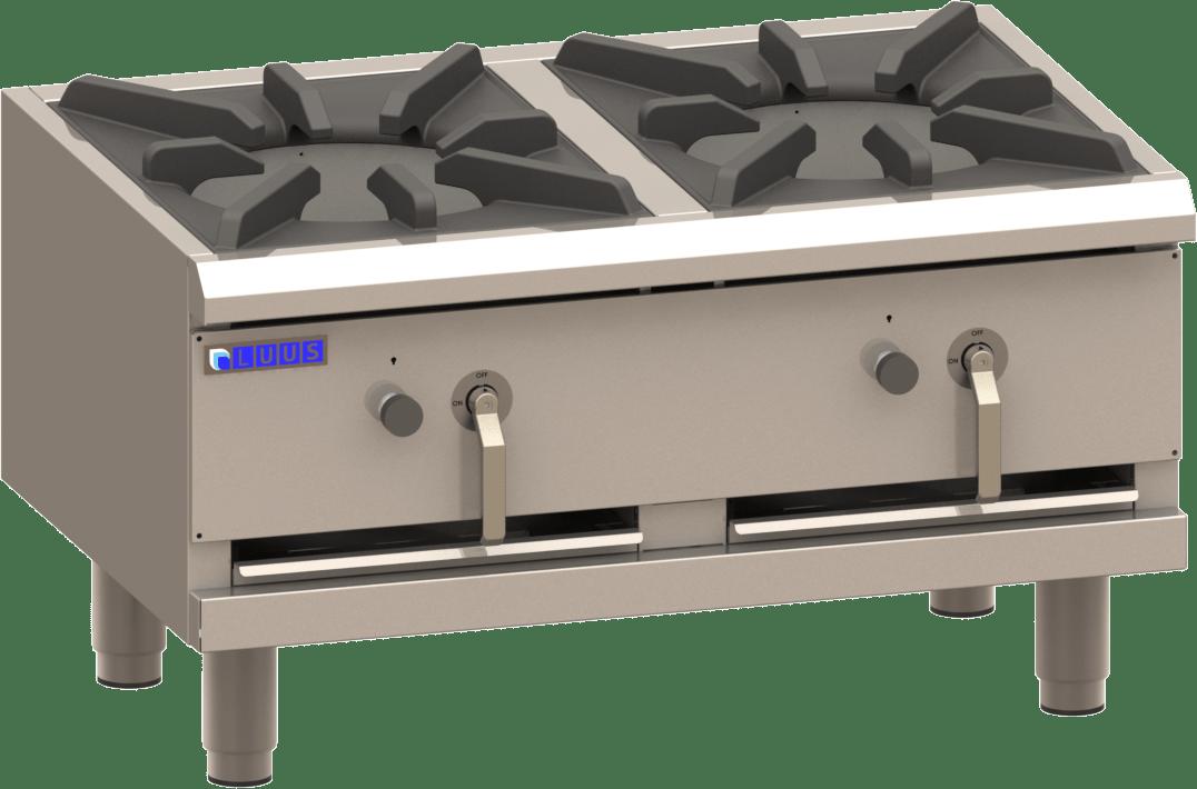 Luus Asian FSP-90 2 Duckbill Burners Freestanding Stockpot