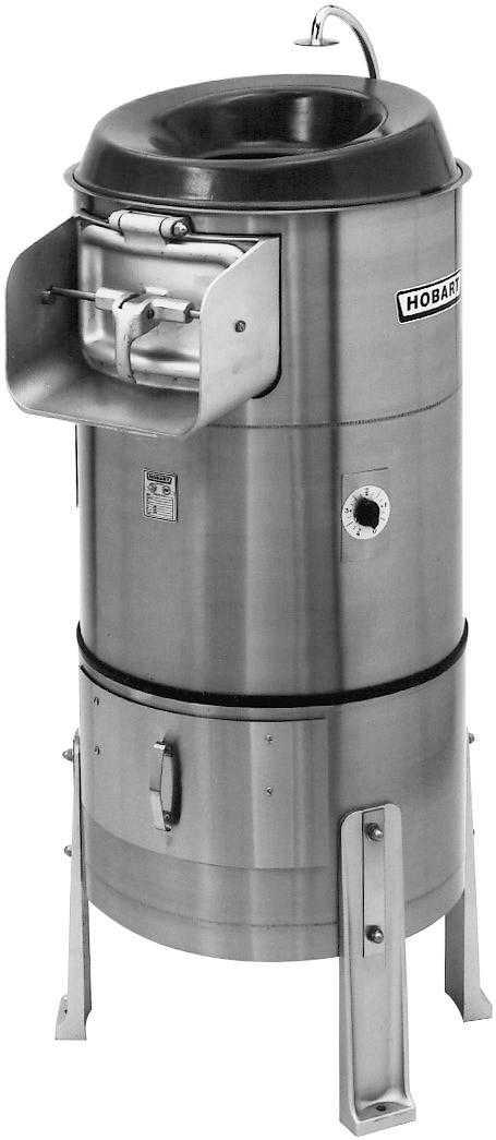 Hobart 6460-21C 27kg Capacity Floor Model Peeler