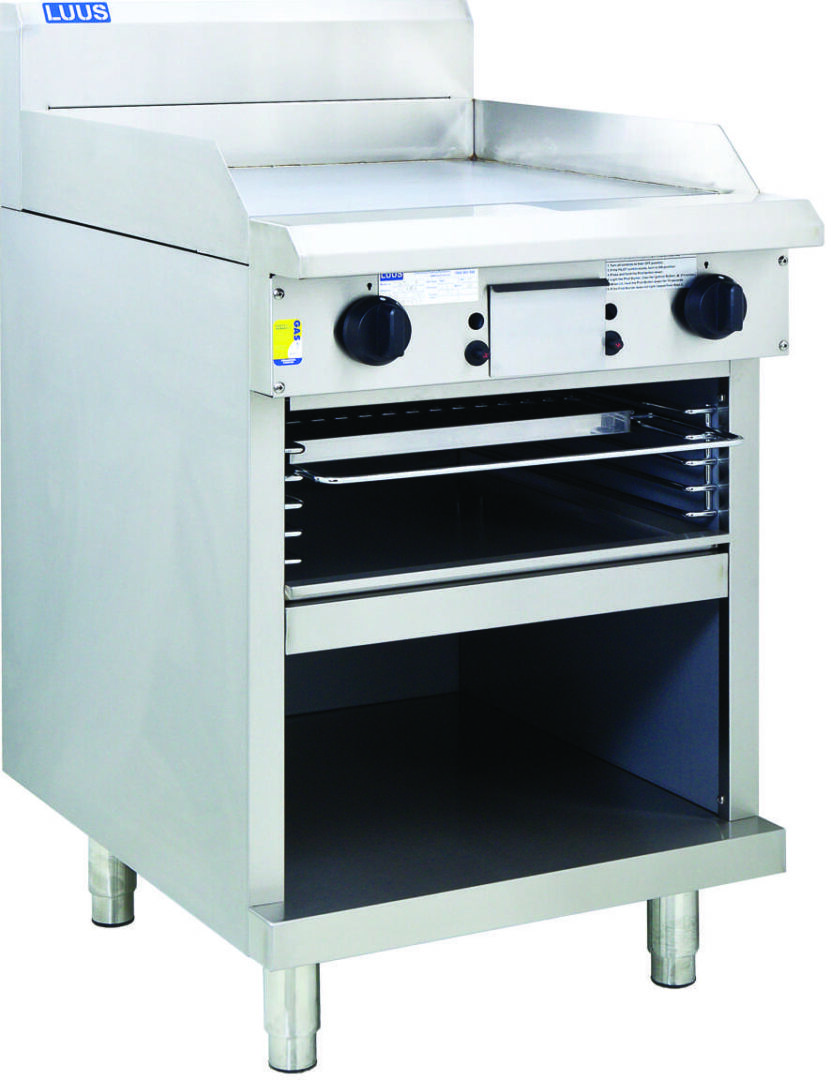 Luus  Professional  GTS-6 600mm Griddle Toaster with cabinet base and toasting racks