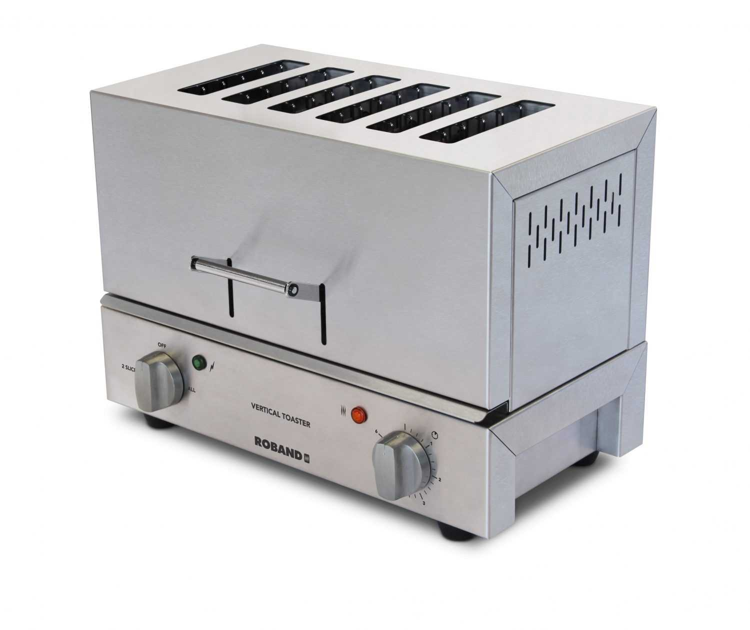 Roband TC66 Vertical Toaster, 6 slice