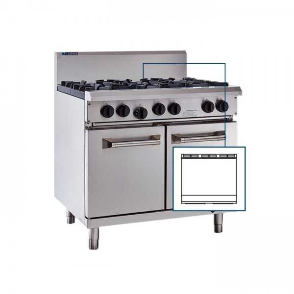 Luus   Professional RS-9P (CP) 900mm Chrome Plated Griddle & Oven