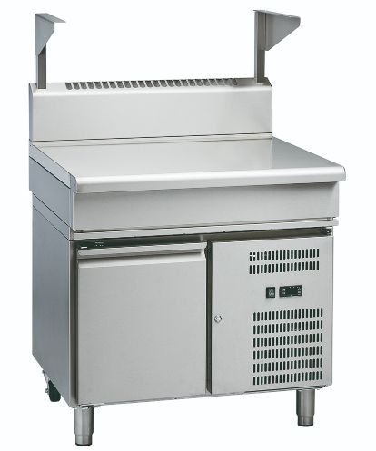 Waldorf 800 Series BTL8900S-RB – 900mm Bench Top With Salamander Support Low Back Version – Refrigerated Base