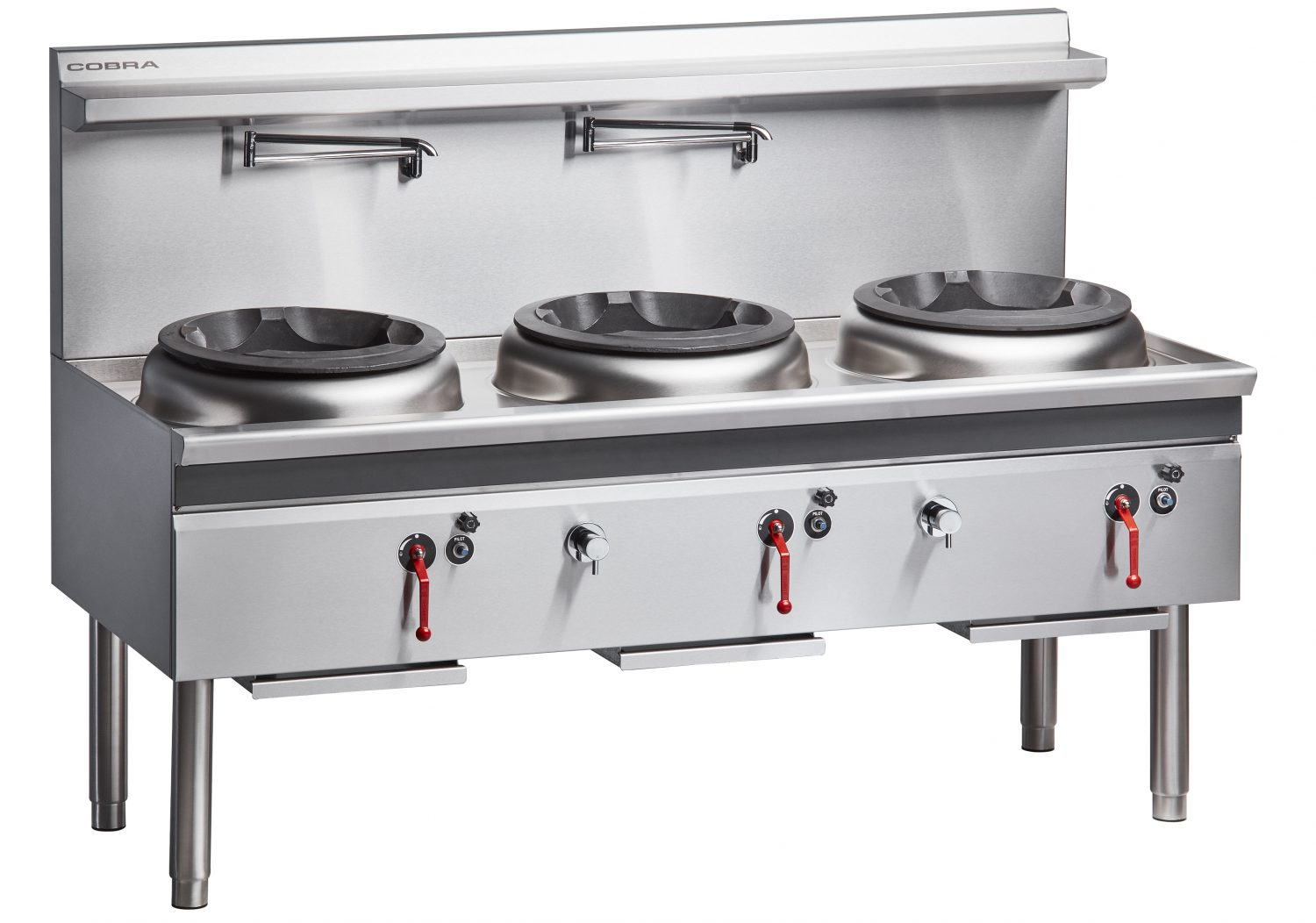 Cobra CW3H-CCC – 1800mm Gas Waterless Wok with 3 Chimney burners