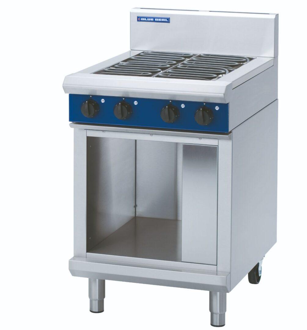 Blue Seal Evolution Series E514D-CB - 600mm Electric Cooktop – Cabinet Base