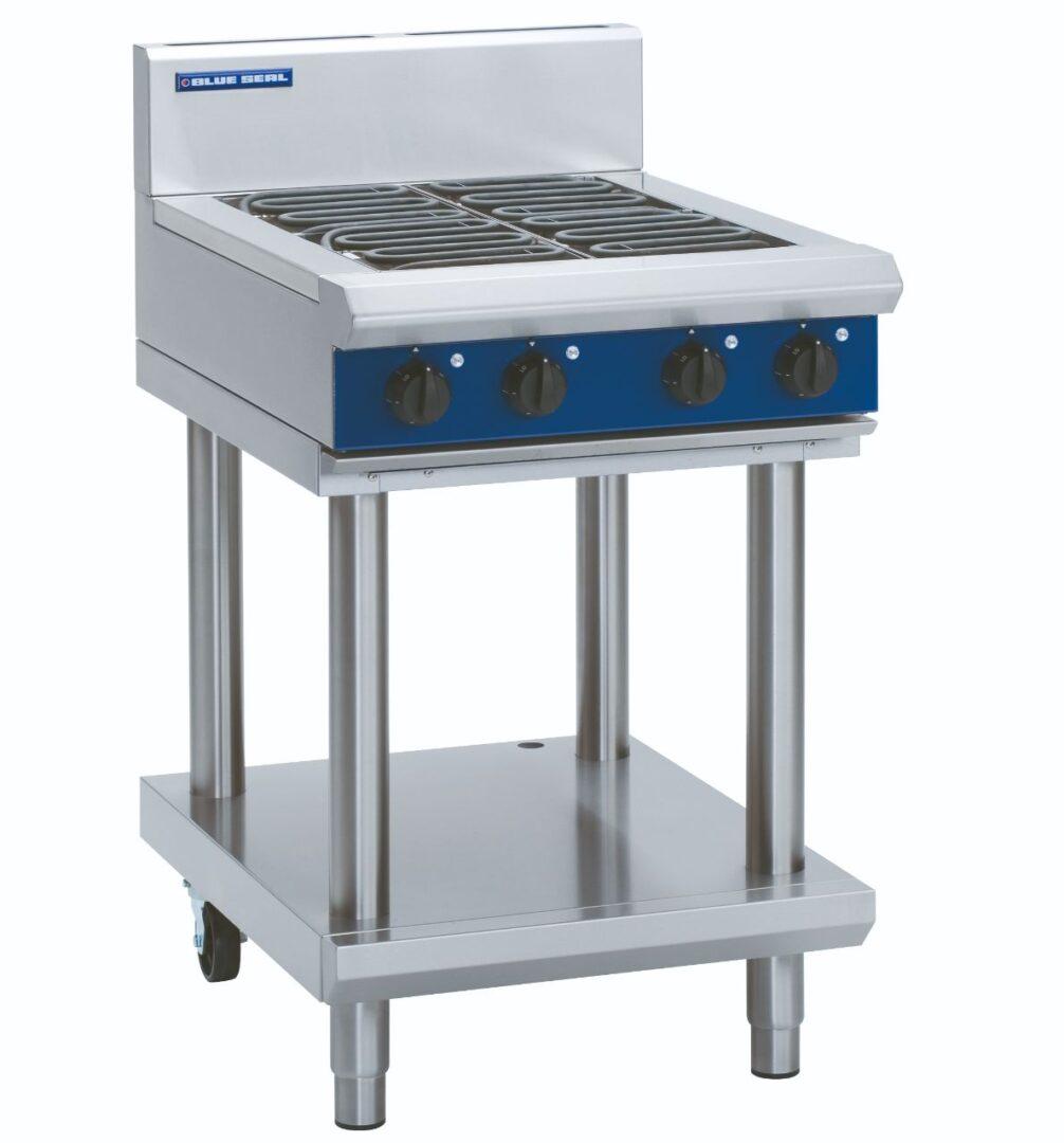 Blue Seal Evolution Series E514D-LS - 600mm Electric Cooktop – Leg Stand