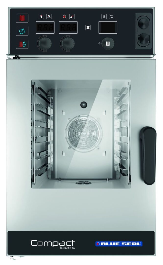 Blue Seal Sapiens EC611RSDW 6 Tray Electric Compact Combination Oven Steamers