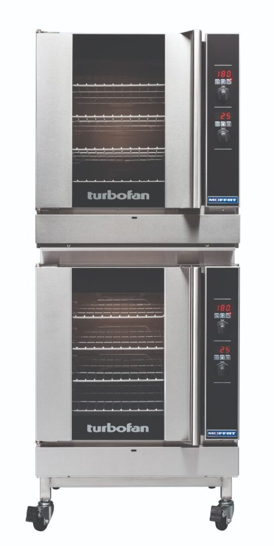 Turbofan G32D4/2 – Full Size Tray Digital Gas Convection Ovens Double Stacked