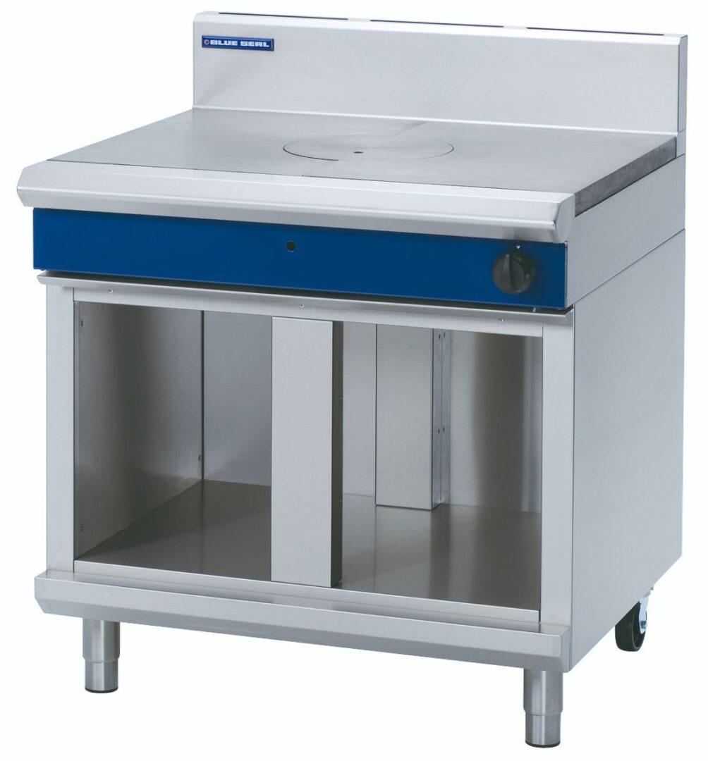 Blue Seal Evolution Series G57-CB - 900mm Gas Target Top – Cabinet Base