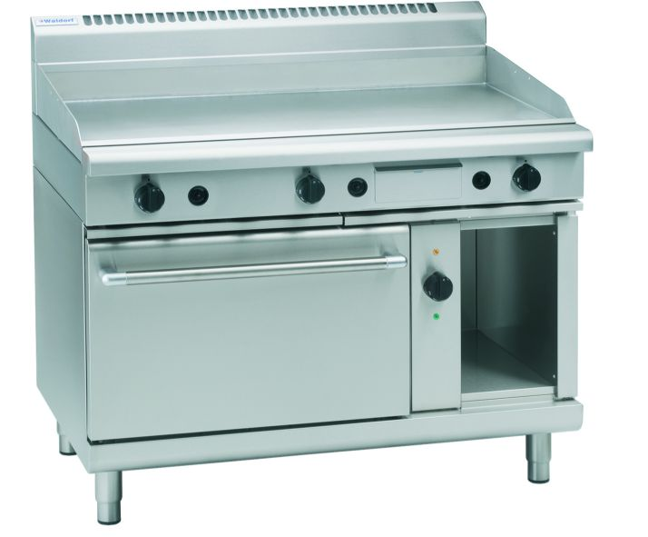 Waldorf 800 Series GPL8121GEC – 1200mm Gas Griddle Electric Convection Oven Range Low Back Version