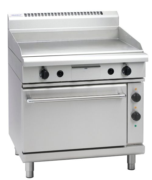 Waldorf 800 Series GPL8910GE – 900mm Gas Griddle Electric Static Oven Range Low Back Version