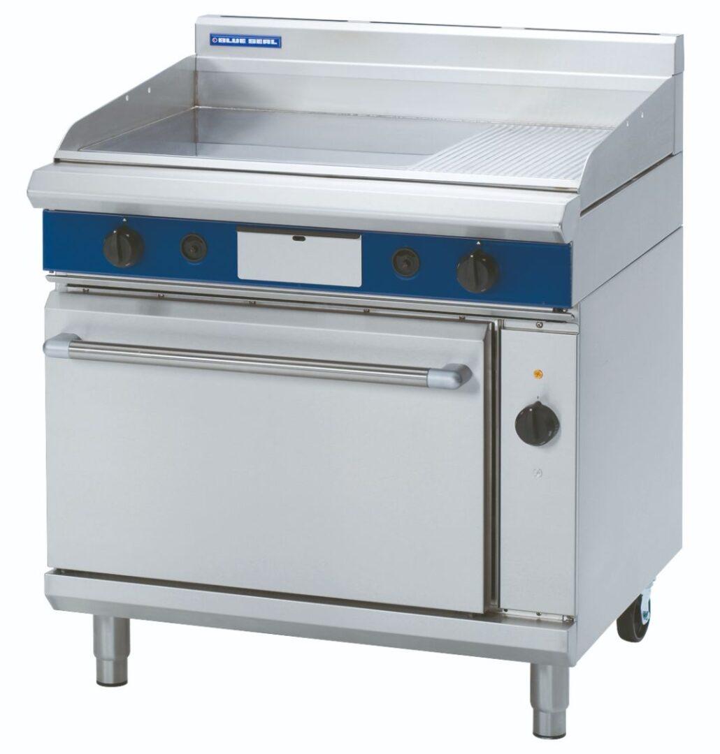 Blue Seal Evolution Series GPE56 - 900mm Gas Griddle Electric Convection Oven Range
