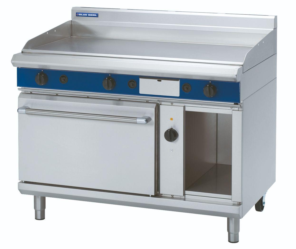 Blue Seal Evolution Series GPE58 - 1200mm Gas Griddle Electric Convection Oven Range