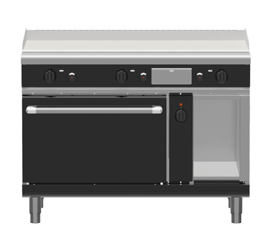 Waldorf Bold GPB8121GEC – 1200mm Gas Griddle Electric Convection Oven Range