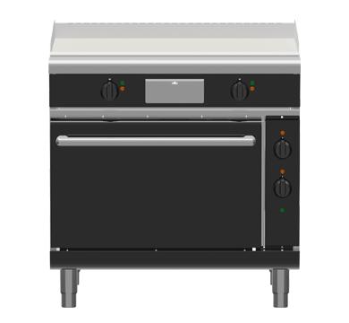 Waldorf Bold GPLB8910EC – 900mm Electric Griddle Convection Oven Range Low Back Version
