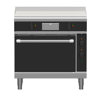 Waldorf Bold GPB8910E – 900mm Electric Griddle Static Oven Range