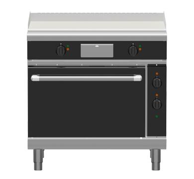 Waldorf Bold GPLB8910E – 900mm Electric Griddle Static Oven Range Low Back Version