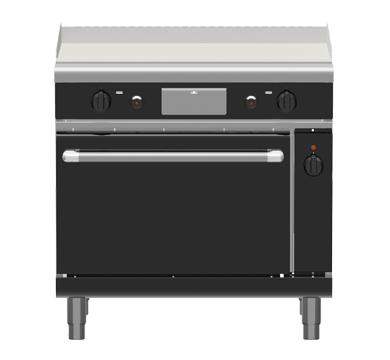 Waldorf Bold GPLB8910GEC – 900mm Gas Griddle Electric Convection Oven Range Low Back Version