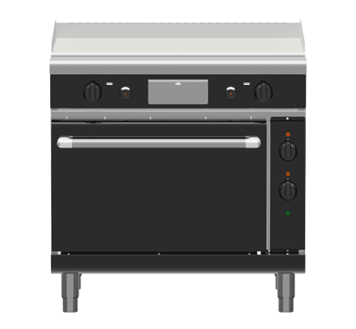 Waldorf Bold GPB8910GE – 900mm Gas Griddle Electric Static Oven Range