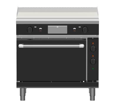 Waldorf Bold GPLB8910GE – 900mm Gas Griddle Electric Static Oven Range Low Back Version