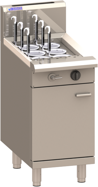 Luus Asian NC-45 6 Basket Noodle Cooker with thermostat control, drain and overflow system