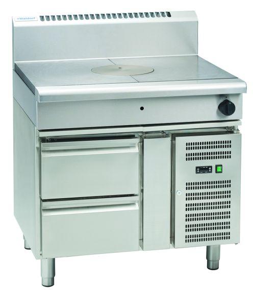 Waldorf 800 Series RN8100G-RB – 900mm Gas Target Top – Refrigerated Base