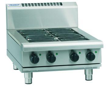 Waldorf 800 Series RNL8403E-B – 600mm Electric Cooktop Low Back Version – Bench Model