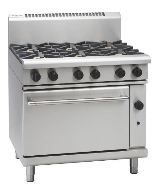 Waldorf 800 Series RNL8619G – 900mm Gas Range Static Oven Low Back Version