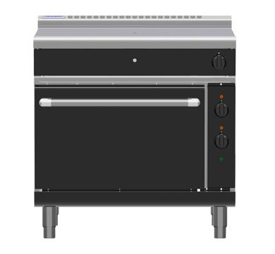 Waldorf Bold RNLB8110GE – 900mm Gas Target Top Electric Static Oven Range