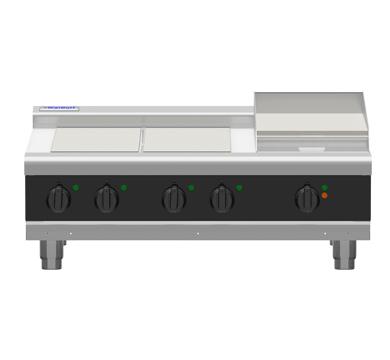Waldorf Bold RNLB8600E-B – 900mm Electric Cooktop Low Back Version – Bench Model