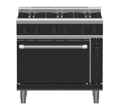 Waldorf Bold RNB8619GC – 900mm Gas Range Convection Oven