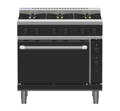 Waldorf Bold RNB8619GE – 900mm Gas Range Electric Static Oven