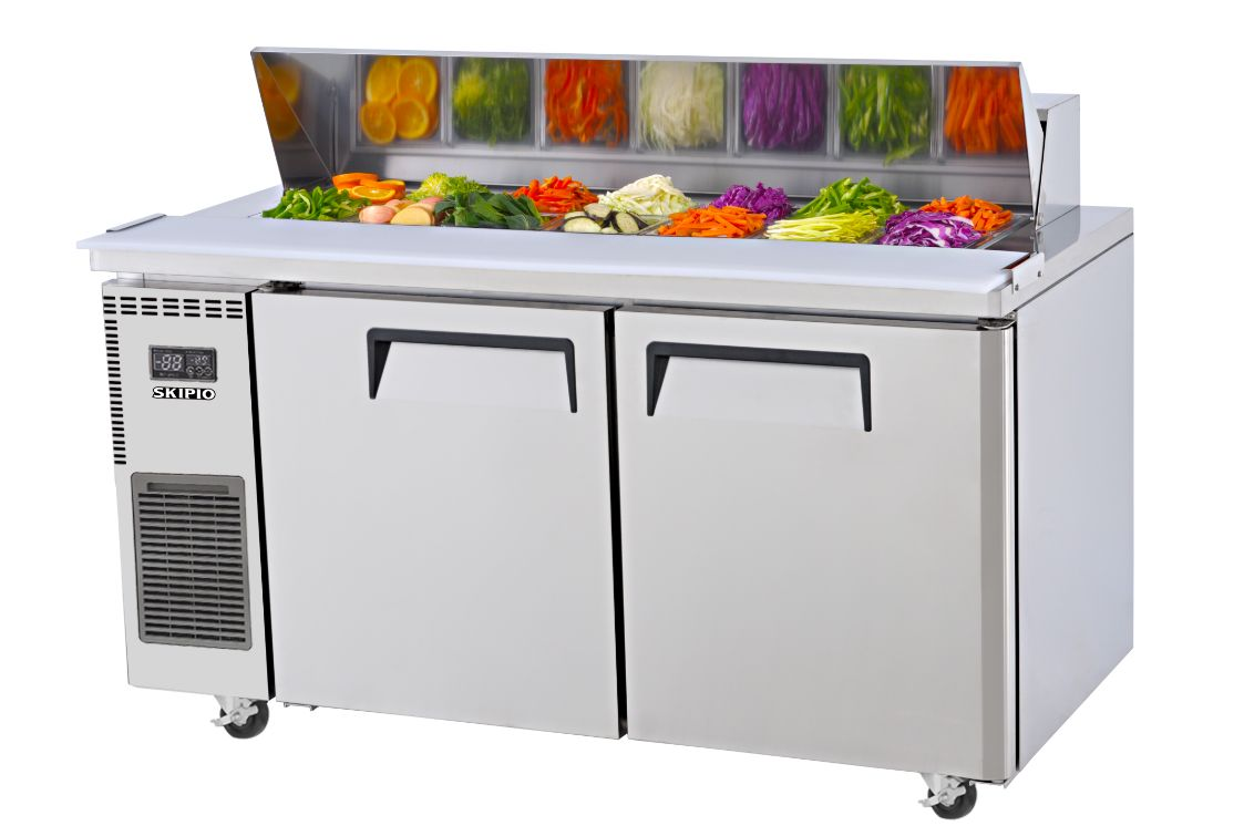 Skipio SHR15-2 Salad Side Prep Table(Hood Lid) Refrigerator