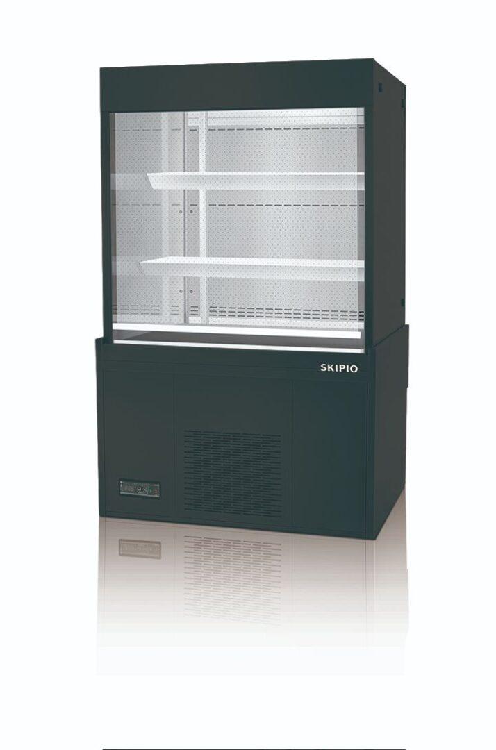 Skipio SOA-900 Open Case Refrigerator