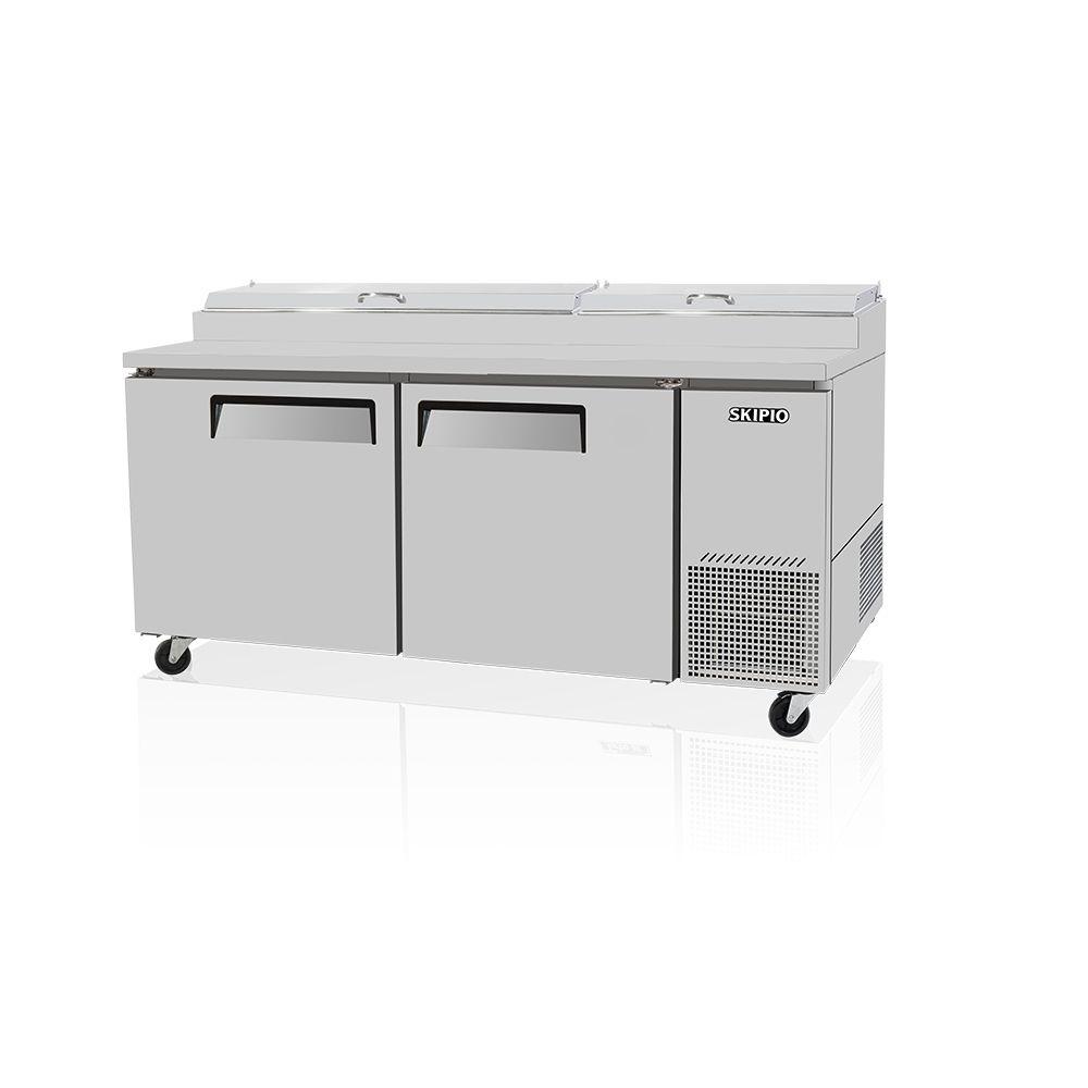 Skipio SPR-67SD Pizza Prep Table Refrigerator