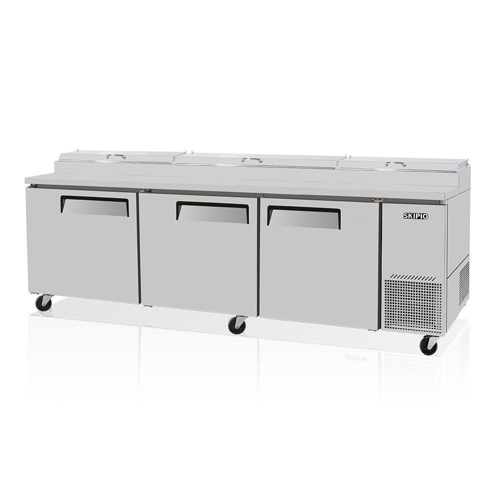 Skipio SPR-93SD Pizza Prep Table Refrigerator