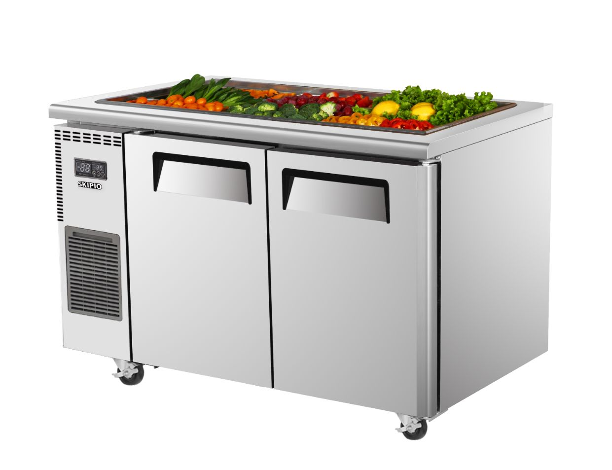 Skipio SSR12-2 Salad Side Prep Table(Buffet) Refrigerator