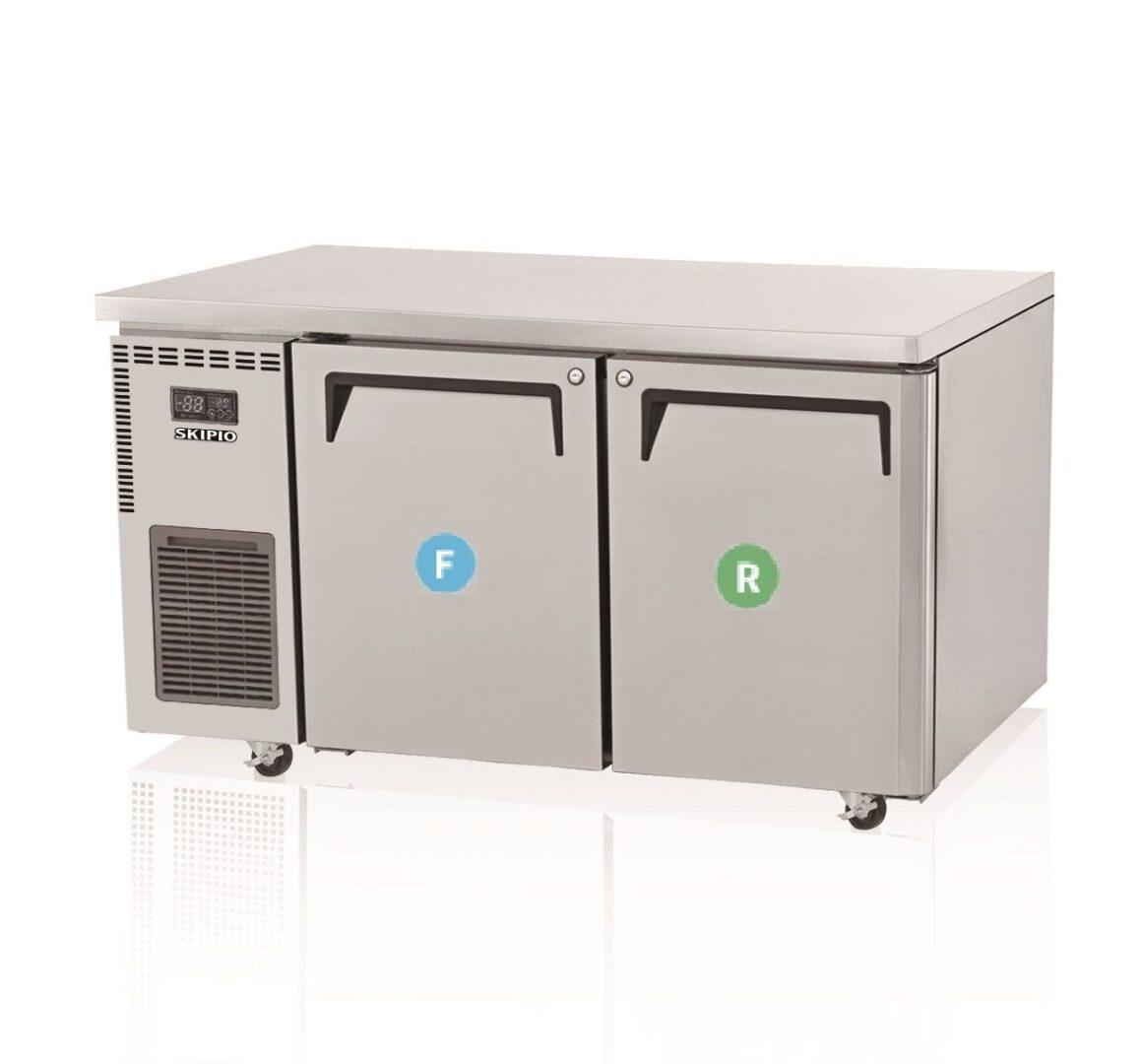 Skipio  SUF15-2 Undercounter Dual temp Refrigerator & Freezer