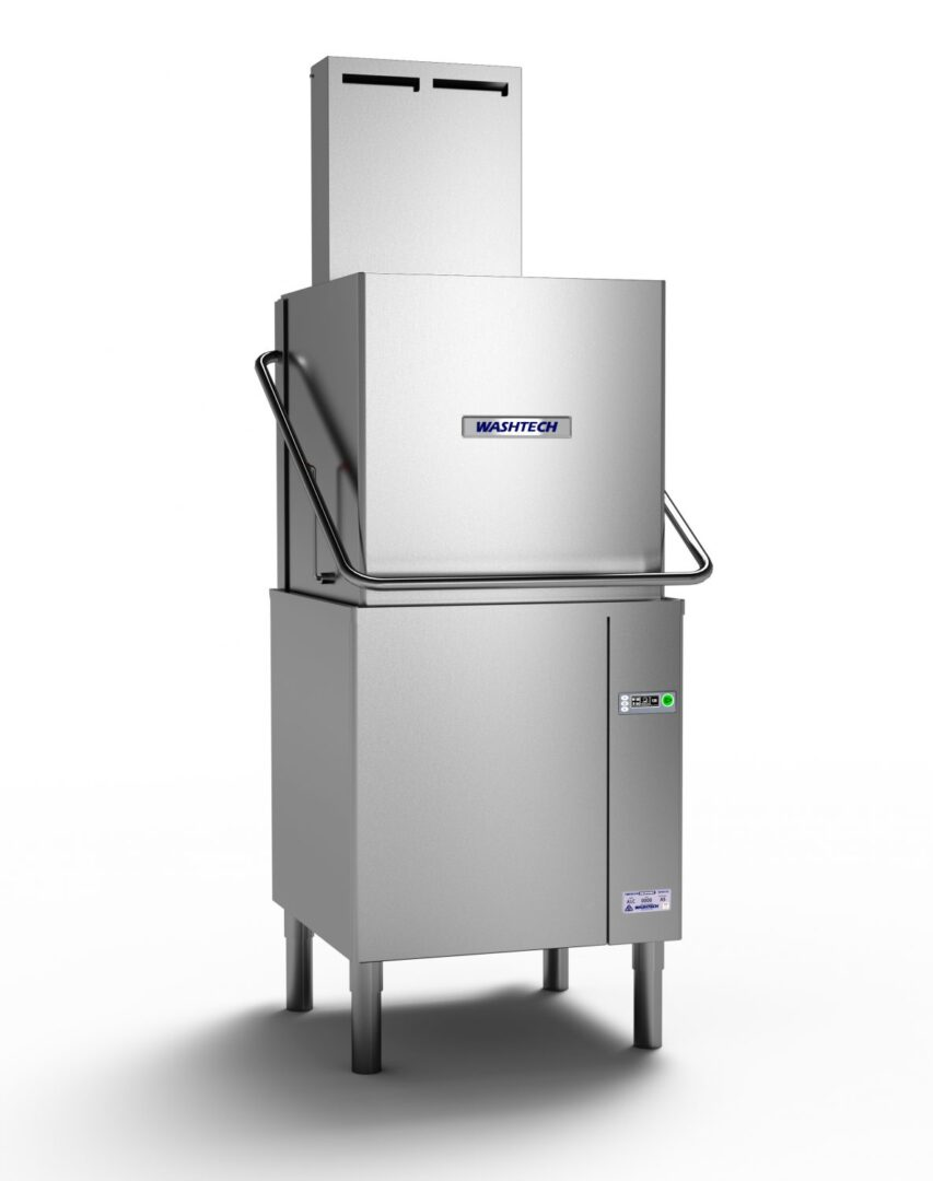 Washtech ALC – Premium Fully Insulated Passthrough Dishwasher with Heat Condensing Unit – 500mm Rack
