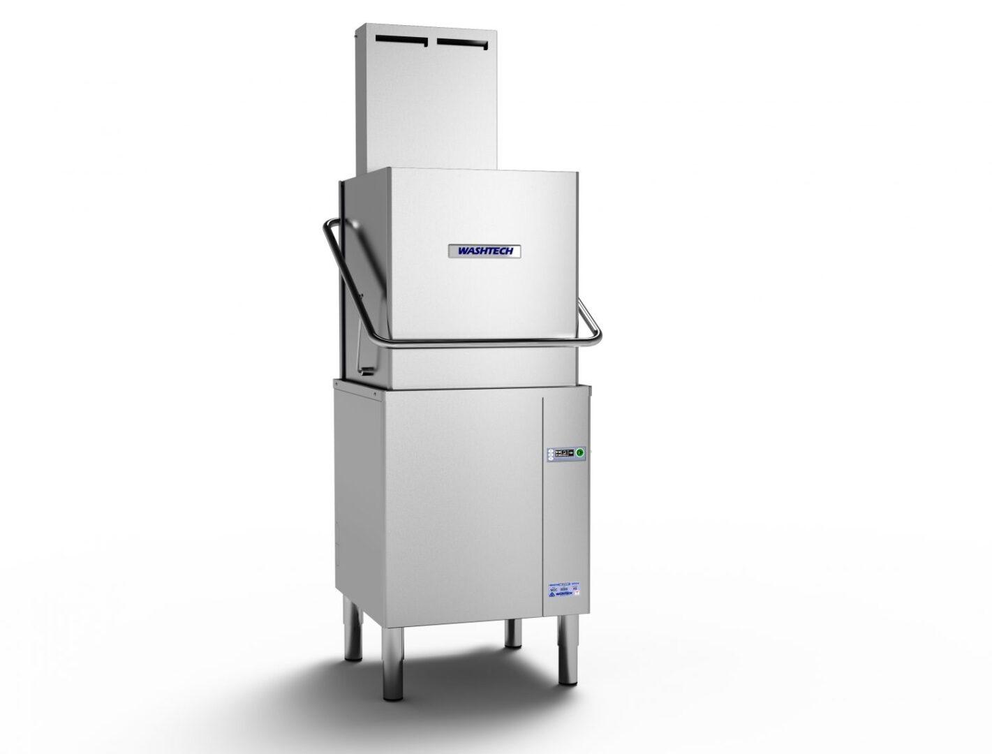 Washtech M2C – Professional Passthrough Dishwasher with Heat Condensing Unit – 500mm Rack