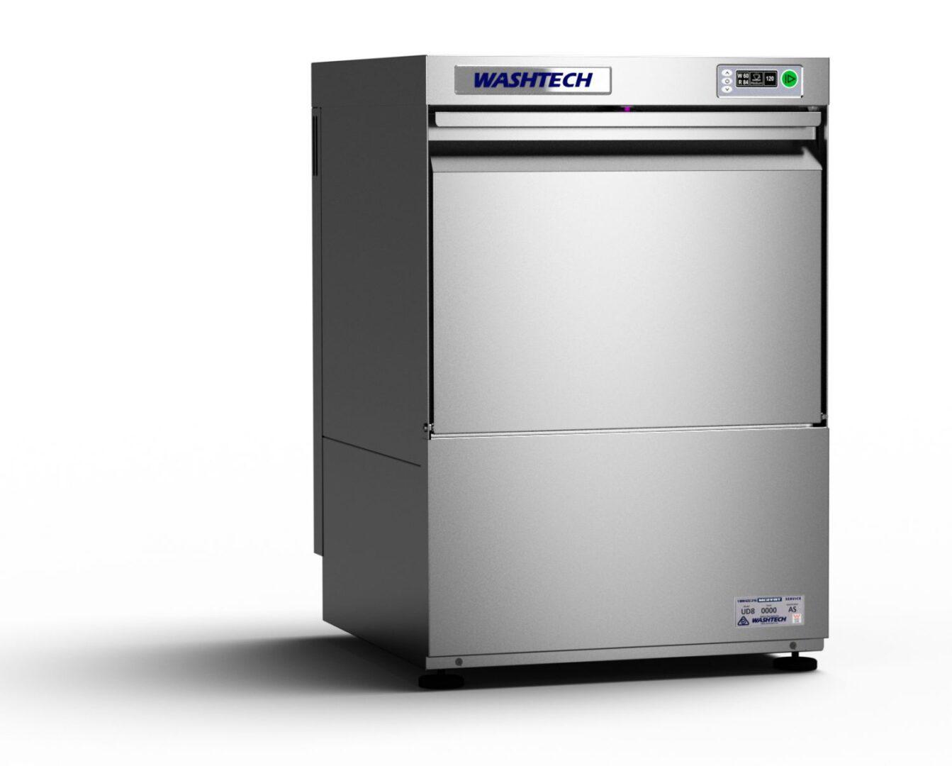 Washtech UD – Professional Undercounter Glasswasher / Dishwasher – 500mm Rack