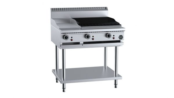 B+S BT-GRP3-CGR6 Combination 300mm Grill Plate & 600mm Char Grill