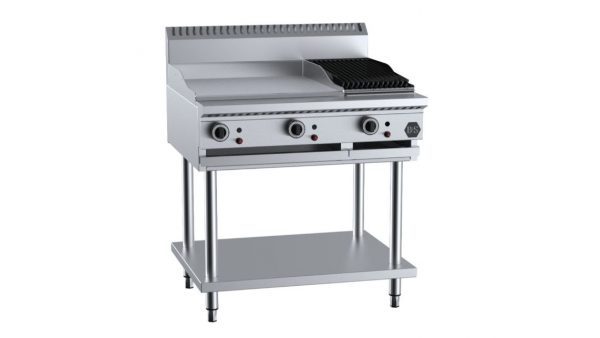 B+S BT-GRP6-CGR3 Combination 600mm Grill Plate & 300mm Char Grill