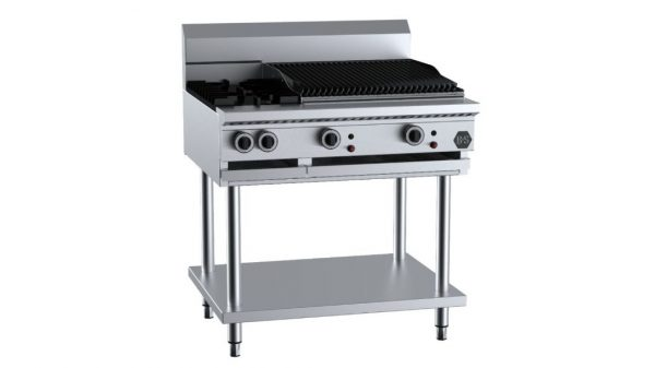 B+S BT-SB2-CGR6 Combination Two Open Burners & 600mm Char Grill