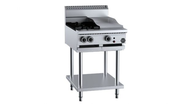 B+S BT-SB2-GRP3 Combination Two Open Burners & 300mm Grill Plate