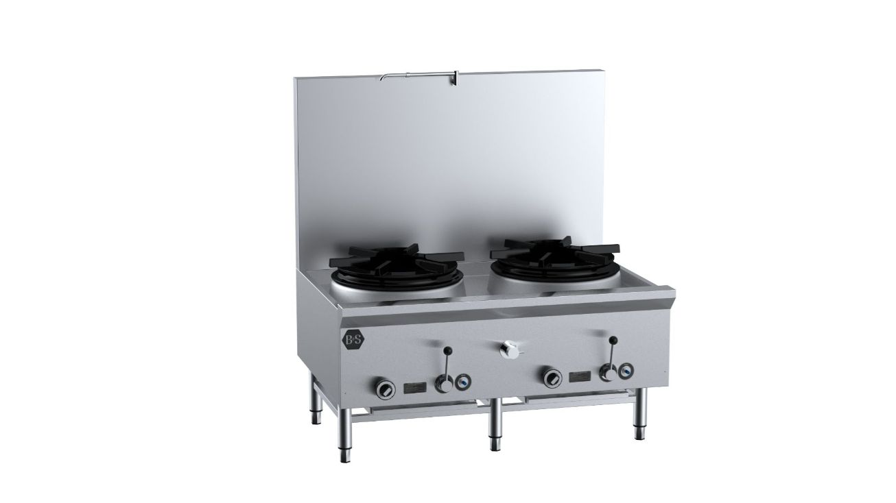 B+S UFWWSPD-2 Two Hole Deluxe Waterless Stock Pot