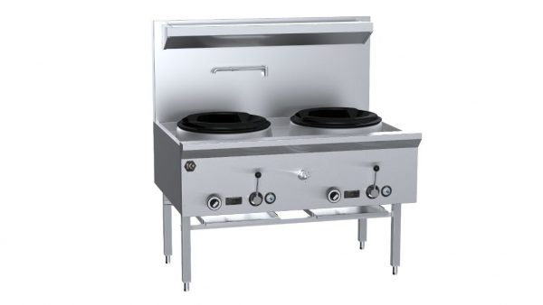B+S K+ UFWWK-2 Two Hole Waterless Wok Table