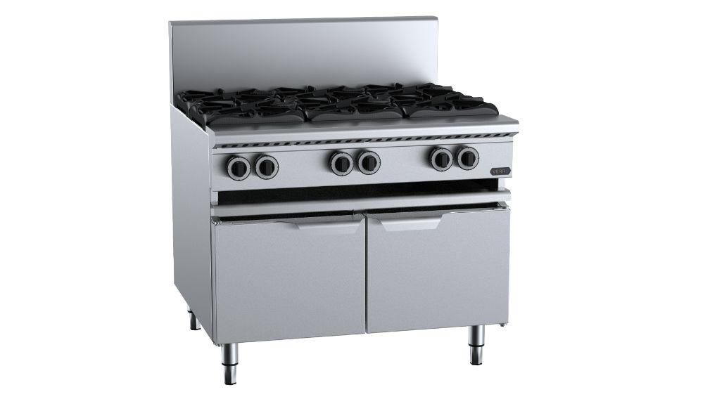 B+S  Verro VAWBT-SB6   Six Burner Boiling Top with lower working height
