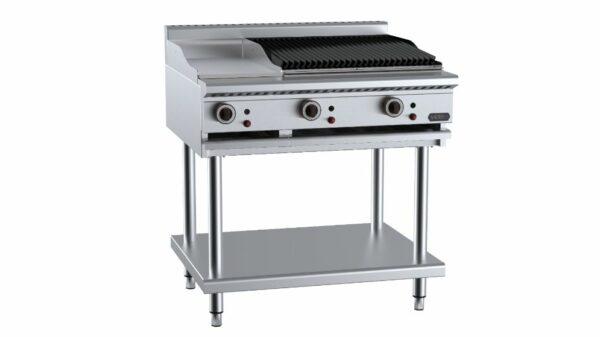 B+S Verro  VHBT-GRP3-CBR6 Combination 300mm Grill Plate & 600mm Char Broiler