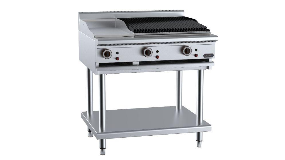 B+S Verro  VHBT-GRP3-CGR6 Combination 300mm Grill Plate & 600mm Char Grill